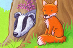 Debbie Tarbett Illustration - debbie tarbett, acrylic, paint, painted, young, sweet, commercial, novelty, board, picture book, picturebook, animals, foxes, rabbits, bunnies, bunny, badgers, squirrels, owls, forests