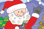 Helen Naylor Illustration - helen booth, helen, booth, digital, mass market, value, activity, commercial, christmas, santa, santa claus, santa clause, reindeer, snow, snowing, snowy, father christmas, presents