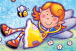 Helen Prole Illustration - helen prole, educational, commercial, digital, mass market, value, activity, colouring, people, pastel, children, girls, girly, fairies, fairy, faery, faeries