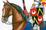 Peter Wilks Illustration - eter, wilks, peter, wilks, peter wilks, paint, painted, educational, traditional, watercolour, people, man, knight, horse, horses, animal, animals