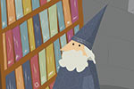 Ana Garcia Illustration - ana, garcia, ana garcia, commercial, educational, fiction, mass market, novelty, board books, activity, puzzle, digital, photoshop, illustrator, person, people, man, old man, men, male, wizards, magic, magician, towers, books, libraries, wand