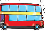 Andrew Geeson Illustration - andrew, geeson, digital, copy artist, photoshop, illustrator, educational, novelty, board books, bus, transport, vehicle, red