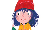 Ana Gomez Illustration - ana, gomez, ana gomez, picture books, children's books, comics, cartoons, colourful, bright, illustrator, girl, winter, coat, seasons, snow, snowing, dog, puppy, pet, outdoors, fun