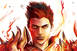 Alba Palacio Illustration - alba palacio, illustration, fine art, colour, colourful, comic, comic book, realistic, texture, painting, art, superhero, powers, powerful, character, man, person, fire, flames, elements, magic, magical, mystical,