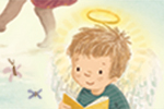 Antonia Woodward Illustration - antonia, woodward, antonia woodward, commercial, trade, picture book, picturebook, novelty, sweet, fiction, traditional, painted, child, angel, birds, clouds, children