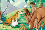 Antonia Woodward Illustration - antonia, woodward, antonia woodward, commercial, trade, picture book, picturebook, novelty, sweet, fiction, traditional, painted, people, person, educational, religion, bible, men, man, women, woman, animals, paradise, jungle, birds, tigers, bears, monkey
