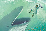 Antonia Woodward Illustration - antonia, woodward, antonia woodward, commercial, trade, picture book, picturebook, novelty, sweet, fiction, traditional, painted, people, person, boat, sea, educational, water, sea, storm, religion, bible, men, man, rain, ocean, whale, fish,