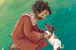 Antonia Woodward Illustration - antonia, woodward, antonia woodward, commercial, trade, picture book, picturebook, novelty, sweet, fiction, traditional, painted, people, person, educational, religion, bible, man, shepherd, sheep, fields, trees, nature,