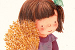 Antonia Woodward Illustration - antonia, woodward, antonia woodward, commercial, trade, picture book, picturebook, novelty, sweet, fiction, traditional, painted, child, person, girl, mouse, cute, sweet, barley, flowers, trees, animal