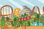 Brendan Kearney Illustration - brendan kearney, brendan, kearney, digital, commercial, fiction, activity, picture book, educational, detailed, animals, rides, fairground, fun,characters, 100, facts, holiday, beach, town, busy, dinosaurs, sand, people,