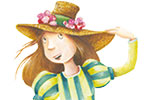 Bruno Robert Illustration - bruno, robert, bruno robert, painted, traditional, paint, commercial, picture book, young reader, YA, cute, sweet, woman, hat, dress, boys, men, floral, flowers, dance, happy,
