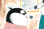 Christine Pym Illustration -  christine pym, linocut, watercolour, painted, printed, traditional, trade, picture book, commercial, greetings cards, badger, house, baby, family, colour, texture, pattern, leaves, YA, young reader