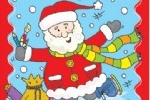 Helen Naylor Illustration - helen booth, helen, booth, digital, mass market, value, activity, commercial, christmas, santa, santa claus, santa clause, snow, snowing, snowy, father christmas, presents, colouring, people
