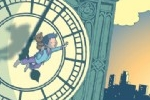Nick Ward Illustration - nick, ward, nick ward, picture book, picturebook, fiction, paint, painted, commercial, clock, big ben, city, town, boy, boys, child, children, people, sunset, dusk, dawn, sunrise