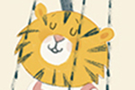 Claire Shorrock Illustration - claire, shorrock, claire shorrock, picture book, greetings cards, licensing, trade, painted, traditional, birthday, tiger, animal, childrens, childrens' books, sweet,