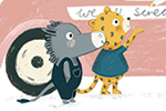 Claire Shorrock Illustration - cute, sweet, claire,shorrock, claire shorrock, illustrator, illustration, photoshop, digital, paint, painterly, pencil, pencil crayon, fiction, YA, young reader, picture book, colourful, animals, goose, donkey, cheetah, leopard, ice cream, ice cream van,