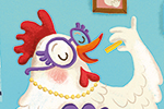 Esther van den Berg Illustration - esther van den berg, esther, van den berg, painted, digital, commercial, advertising, advertisements, posters, editorial, magazines, mass market, trade, photoshop, illustrator, chicken, food, restaurant, YA, young reader