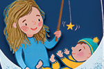 Esther van den Berg Illustration - esther van den berg, esther, van den berg, painted, digital, commercial, advertising, advertisements, posters, editorial, magazines, mass market, trade, photoshop, illustrator, moon, stars, baby, child, cute, sweet, YA, young reader