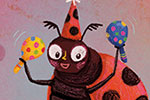 Esther van den Berg Illustration - esther van den berg, esther, van den berg, painted, digital, commercial, advertising, advertisements, posters, editorial, magazines, mass market, trade, photoshop, illustrator, insects, animals, ladybird, ladybug, bugs, cute, party, hat, confetti, sweet,