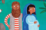 Emma Randall Illustration - emma, randall, emma randall, commercial, trade, editorial, sweet, young, fiction, picture book, greetings cards, paint, painting, digital, photoshop, illustrator, christmas, story, nativity, christian, religion, cover, bethlehem, hill, mum, dad, parents,