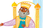 Emma Randall Illustration - emma, randall, emma randall, commercial, trade, editorial, sweet, young, fiction, picture book, greetings cards, paint, painting, digital, photoshop, illustrator, three kings, christmas, xmas, religion, presents, kings,