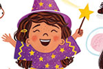 Emma Randall Illustration - emma, randall, emma randall, commercial, trade, sweet, young, picture book, paint, painting, digital, photoshop, illustrator, fiction, girls, boys, characters, children, house, home, dressing up, fancy dress, play, party, wizard, witch, mermaid, cowboy