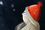 Fay Austin Illustration - fay austin, illustrator, pen, pencil, photoshop, digital, texture, YA, middle grade, fiction, young readers, colourful, colour, character, girl, person, child, night, sky, stars, hat, winter, autumn, fall, seasonal, stargaze, stargazing,