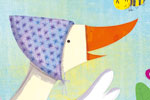 Giuditta Gaviraghi Illustration - giuditta, gaviraghi, guiditta gaviraghi, acrylic, paint, painted, traditional, commercial, picture book, picturebook, colour, colourful, sweet, cute, animals,duck, bee, friends,friendship, flowers, flying
