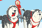 Jennifer Farley Illustration - jennifer farley, photoshop, digital, commercial, young reader, YA, trade, colourful, picture book, non-fiction, educational, dog, pets, animals, cute, sweet, huskies, snow dogs, sled, snow, sheep, sheepdog, service dog, guide dog, sniffer dog, luggage, tr
