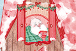 Jessica Martinello Illustration - jessica, martinello, jessica martinello, illustration, hand drawn, painted, digital, novelty, picture book, commercial, educational, sweet, young, fiction, trade, YA, seasonal, festive, christmas, house, home, santa, north pole, snow, winter, tree, christ
