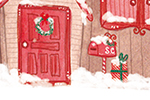 Jessica Martinello Illustration - jessica, martinello, jessica martinello, illustration, hand drawn, painted, digital, novelty, picture book, commercial, educational, sweet, young, fiction, trade, YA, seasonal, festive, christmas, house, home, north pole, snow, winter, presents, santa, fa