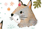 Jojo Clinch Illustration - jojo, clinch, jojo clinch, fiction, picture book, pencil, colour, hand drawn, traditional, digital, texture, nature, animal, wild, squirrel, acorns, seeds, food, leaves, autumn, fall, seasonal, character, emotions, happy, sad, crying, flowers, cute