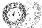 Kate Chappell Illustration - kate, chappell, kate chappell, trade, commercial, fiction, editorial, picture book, hand drawn, black and white, pencil, crayon, digital, photoshop, girls, lions, animals, dresses, bows, dress up, friends , fancy dress, child, children, kids, characters,