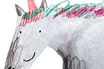 Kate Chappell Illustration - kate, chappell, kate chappell, trade, commercial, fiction, editorial, picture book, hand drawn, gouache, pencil, crayon, digital, photoshop, unicorn