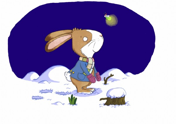 Ian Smith Illustration - ian smith, digital, commercial, sweet, young, picture book, picturebook, animals, rabbits, bunny, bunnies, winter, snowing