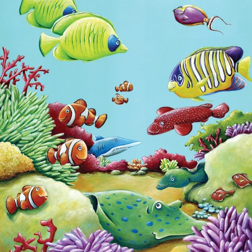 Bruno Robert Illustration - Painted, paint, Commercial, Picture Book, Fish, Water, Sea, Shark, Coral, bruno, robert, bruno robert