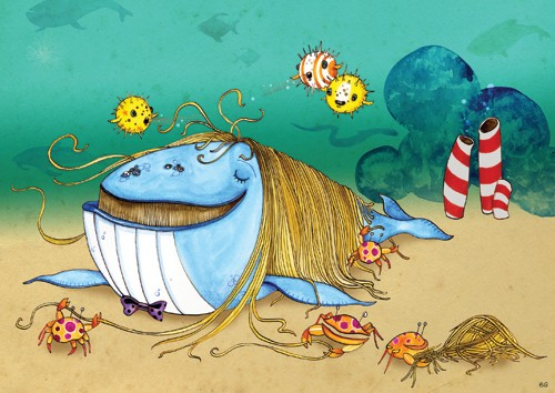 Emily Twomey Illustration - emily twomey, emily, twomey, picture book, picturebook, commercial, digital, painted, paint, underwater, sea, ocean, water, whales, fishes