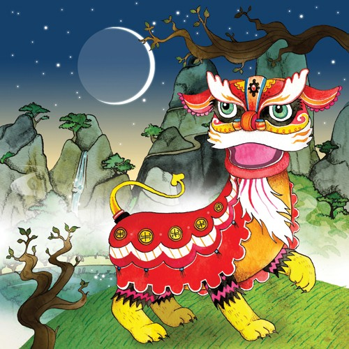 Emily Twomey Illustration - emily twomey, emily, twomey, picture book, picturebook, commercial, digital, painted, paint, chinese, dragons, asian, moon, stars