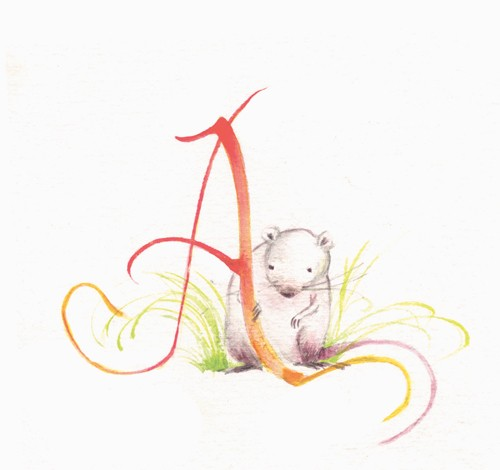 Florencia Denis Illustration - florencia denis, flory denis, paint, painted, watercolour, traditional, picture book, picturebook, trade, alphabet, animals