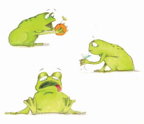 Florencia Denis Illustration - florencia denis, flory denis, paint, painted, watercolour, traditional, picture book, picturebook, trade, animals, frogs