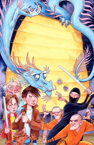 Graham Howells Illustration - graham, howells, graham howells, commercial, fiction, fantasy, paint, painted, watercolour, adventure, dragon, dragons, child, children, people, boy, boys, girl, girls, sword, swords, ninja, ninjas, samurai, samurais