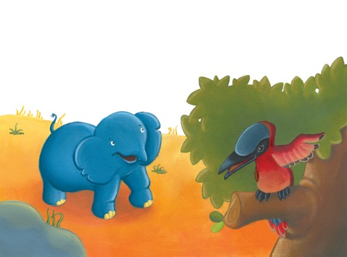 Garyfallia Leftheri Illustration - garyfallia leftheri, acrylic, paint, painted, commercial, picture book, picturebook, educational, animals, elephants, jungle