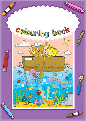 Helen Naylor Illustration - helen booth, helen, booth, digital, mass market, value, activity, commercial, sea, ocean, seaside, water, underwater, animal, animals, bear, bears, cat, cats, boat, boats, colouring