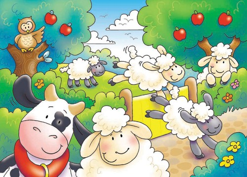Helen Prole Illustration - helen prole, educational, commercial, digital, mass market, value, activity, colouring, animals, sheep, cows