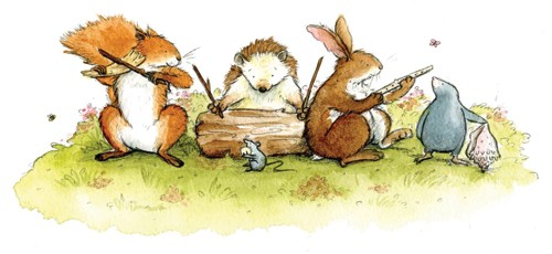 Hannah Whitty Illustration - hannah whitty, commercial, paint, painted, watercolour, picture book, picturebook, fiction, animals, foxes, hedgehogs, rabbits, bunny, bunnies, hares, moles, mouse, mice, rats