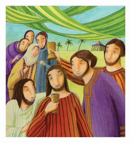 Laura Barella Illustration - laura, barella, laura barella, acrylic, paint, painted, commercial, trade, picture book, picturebook, bible, biblical, people, jesus, disciples, men, man, people