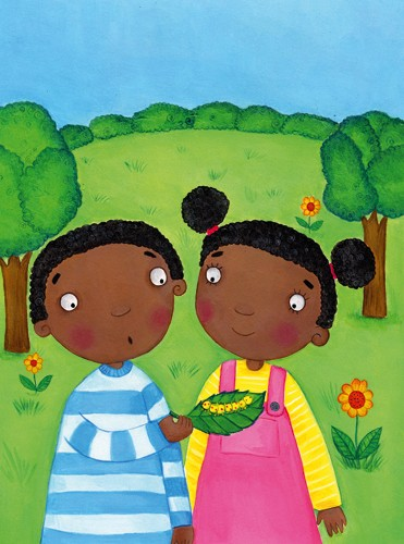Louise Redshaw Illustration - louise redshaw, acrylic, paint, painted, commercial, picture book, picturebook, educational, people, children, ethnic, boys, girls, siblings