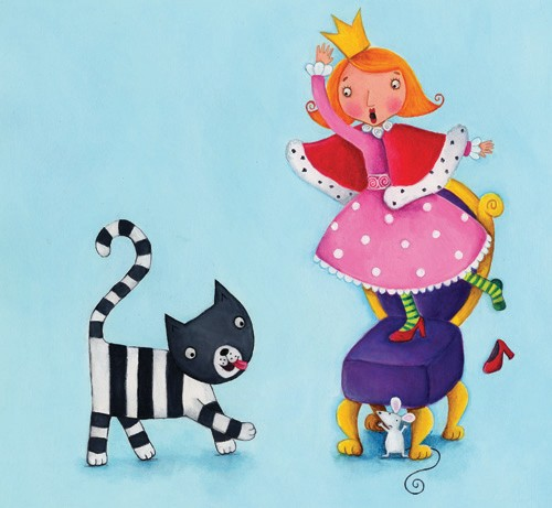 Louise Redshaw Illustration - louise redshaw, acrylic, paint, painted, commercial, picture book, picturebook, educational, people, queens, princesses, cats