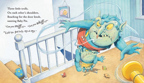 Nick Ward Illustration - nick, ward, nick ward, picture book, picturebook, fiction, paint, painted, commercial, monster, monsters, beast, beasts, creature, creatures, stairs