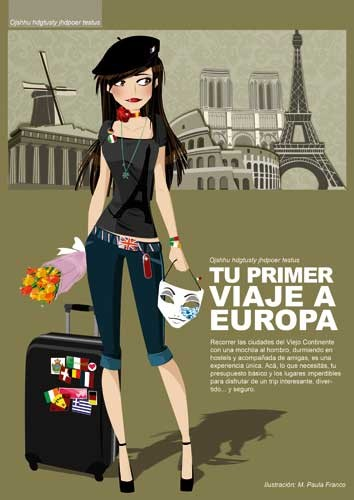 Paula Franco Illustration - paula franco, digital, fiction, educational, tween, teen, teenagers, editorial, people, girls, girly, dress up, shopping, france, paris, travel, travelling, fashion